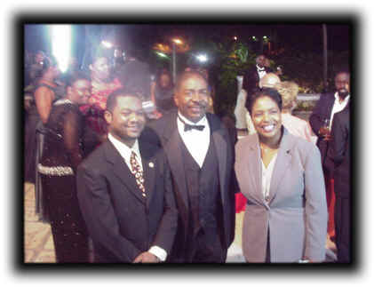 Dr. Brown with Bahamain Friends